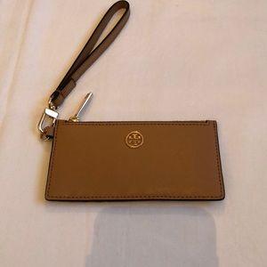 Tory Burch Camel Tan Hand Wristlet Wallet NWOB